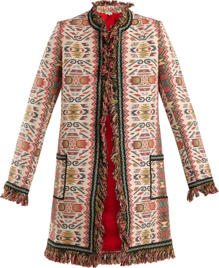 Talitha Aztec-jacquard cotton-blend coat