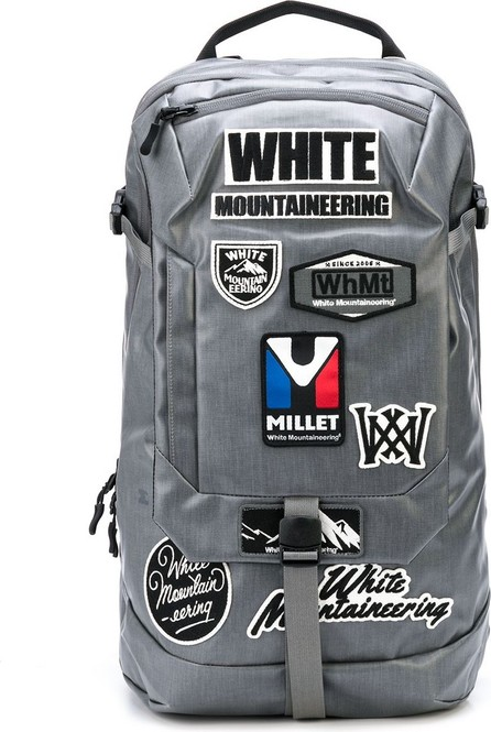 White Mountaineering X Millet buckled backpack