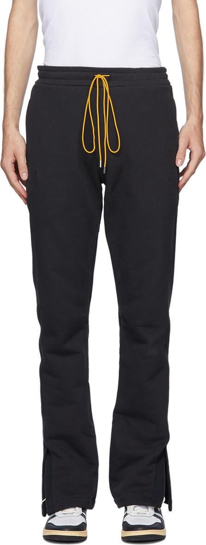 RHUDE Black Oversized Lounge Pants