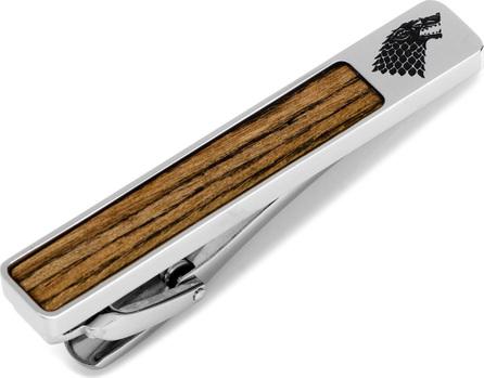 Cufflinks Inc. Game of Thrones Stark Filigree Wood-Inlay Tie Clip