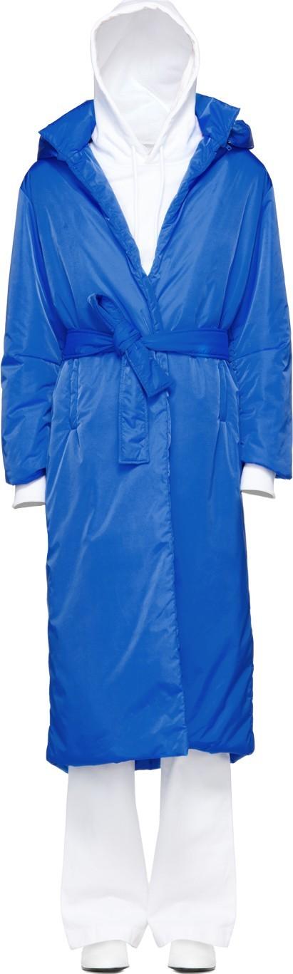 A_Plan_Application Blue Long Puffer Coat