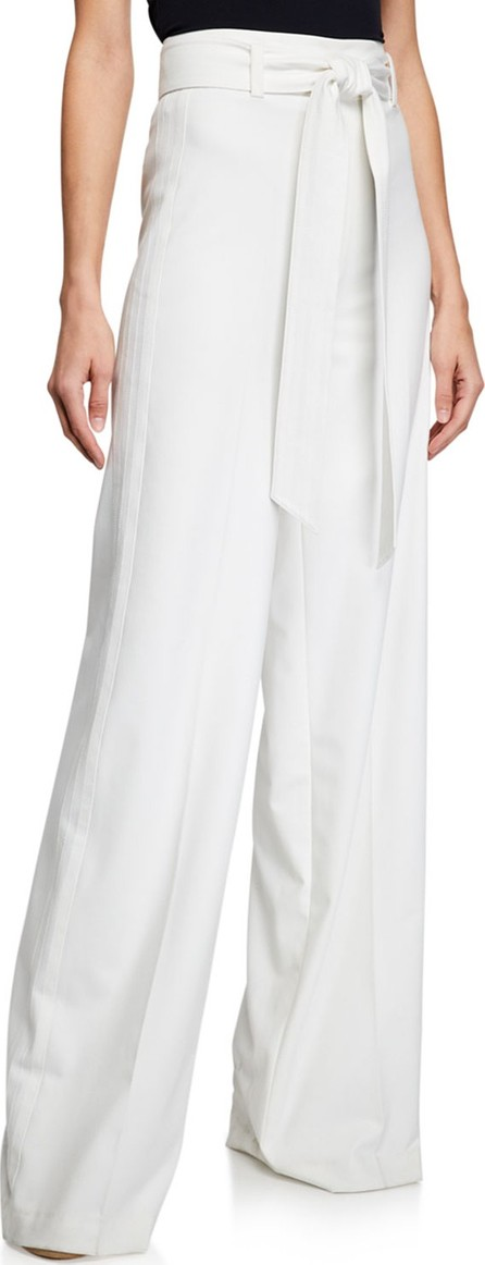 Badgley Mischka Tie-Waist Wide-Leg Pants