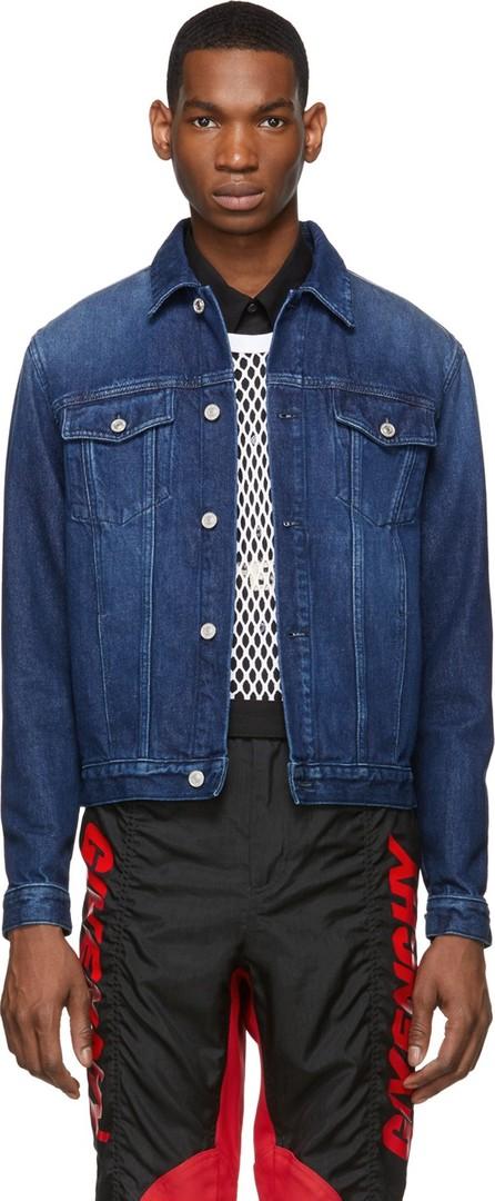 Givenchy Blue Denim Logo Jacket