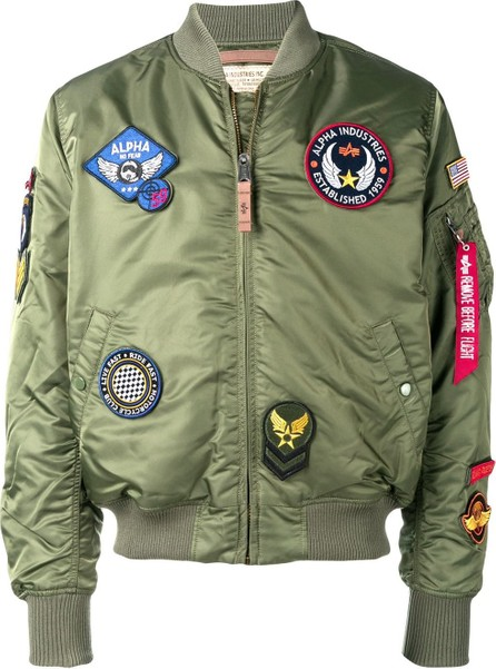 Alpha Industries Embroidered patches bomber jacket