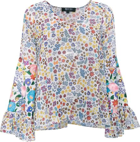 All Things Mochi lena floral print blouse