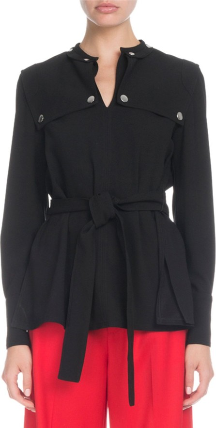 Proenza Schouler Long-Sleeve Belted Trench-Detail Blouse