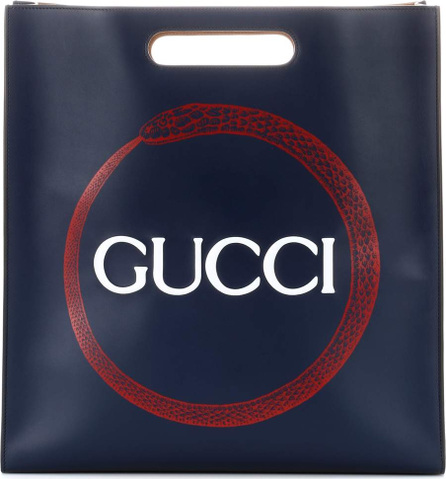 Gucci Printed leather tote