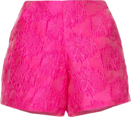 Bambah High waisted textured shorts