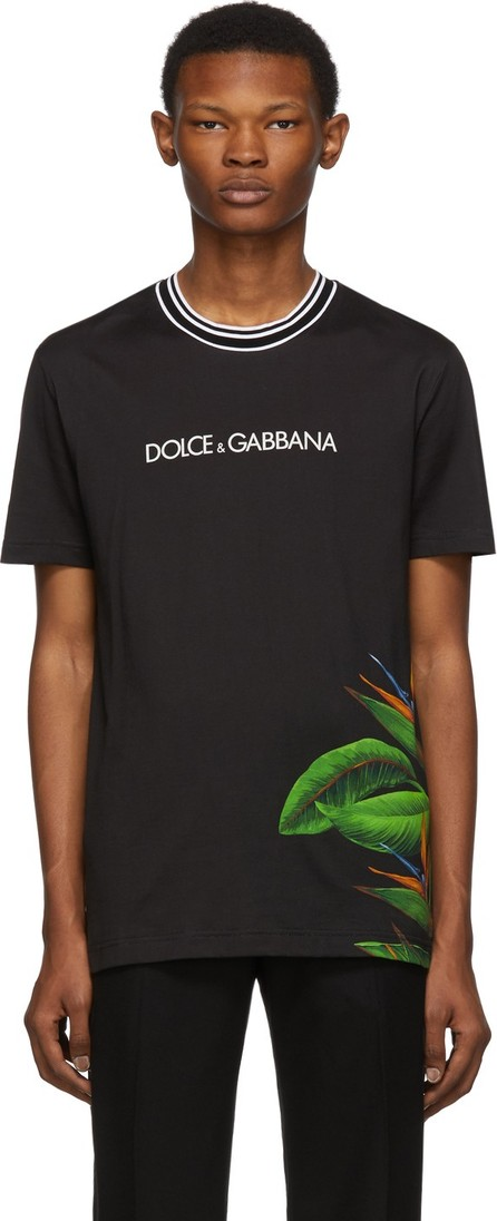 Dolce & Gabbana Black Bird of Paradise T-Shirt