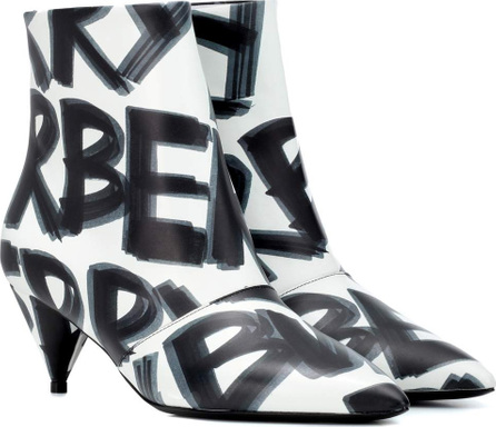 Burberry London England Graffiti leather ankle boots