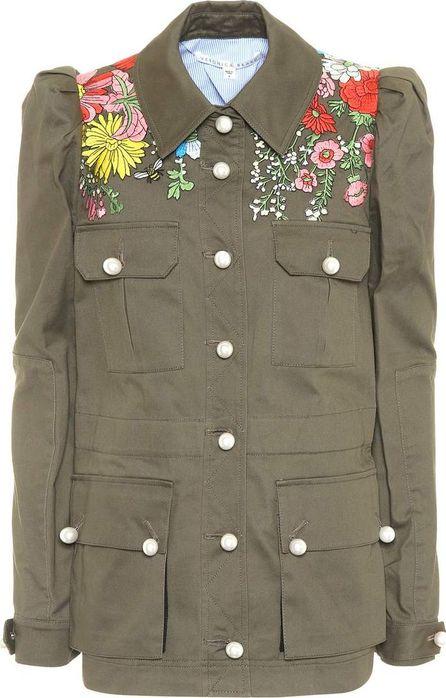 Veronica Beard Embroidered cotton jacket