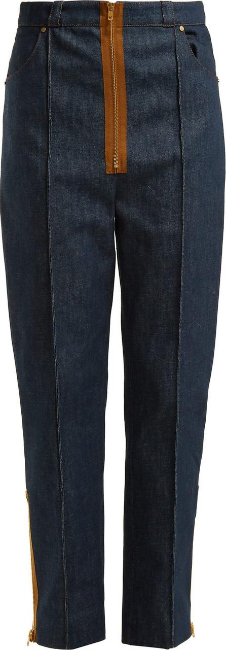 Hillier Bartley Zipper-trimmed high-rise jeans