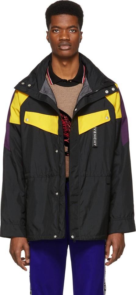 Givenchy Black Long Sailing Windbreaker Coat