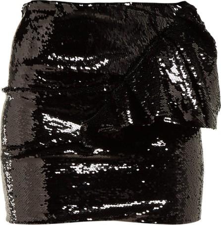 Alexandre Vauthier Ruffled sequinned mini skirt