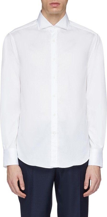 Brunello Cucinelli Slim fit twill shirt