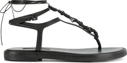 Ann Demeulemeester Strappy thong flat sandal