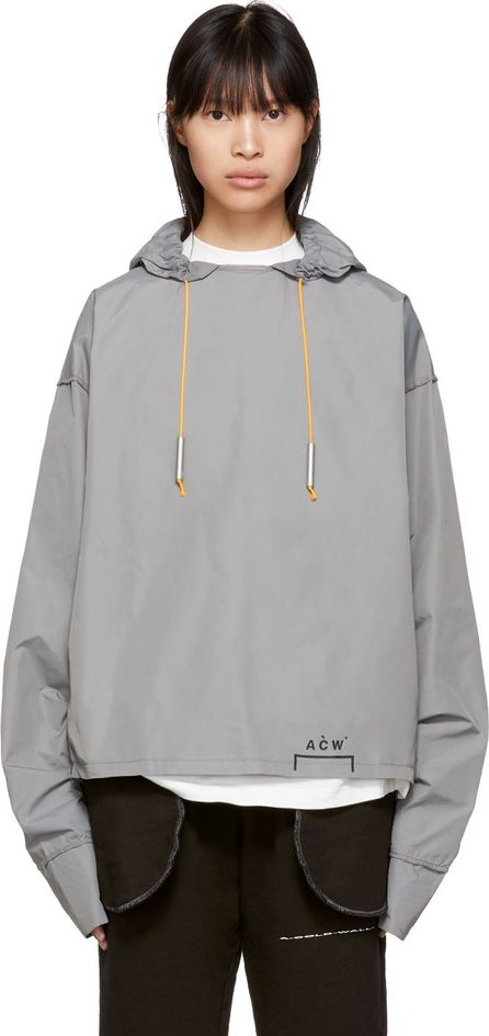 A-Cold-Wall* Grey Nylon Raw Cut Reverse Hoodie