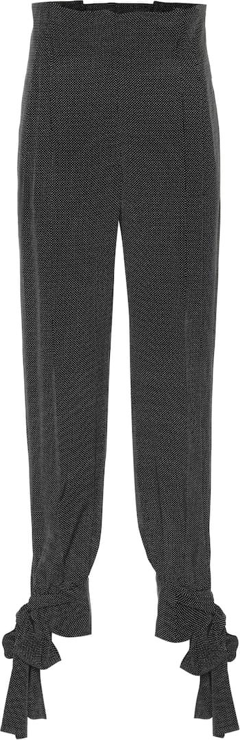 Max Mara Ateneo silk paperbag tie-cuff pants