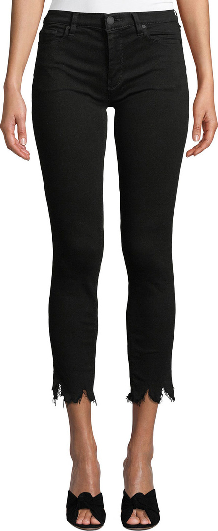Hudson Tally Mid-Rise Cropped Skinny Jeans with Destroy Hem