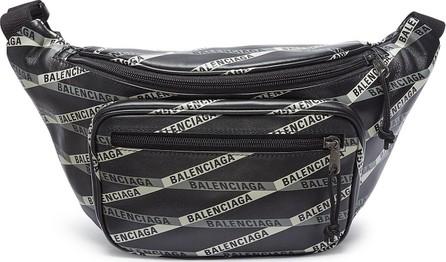 Balenciaga 'Explorer' logo tape print leather belt bag