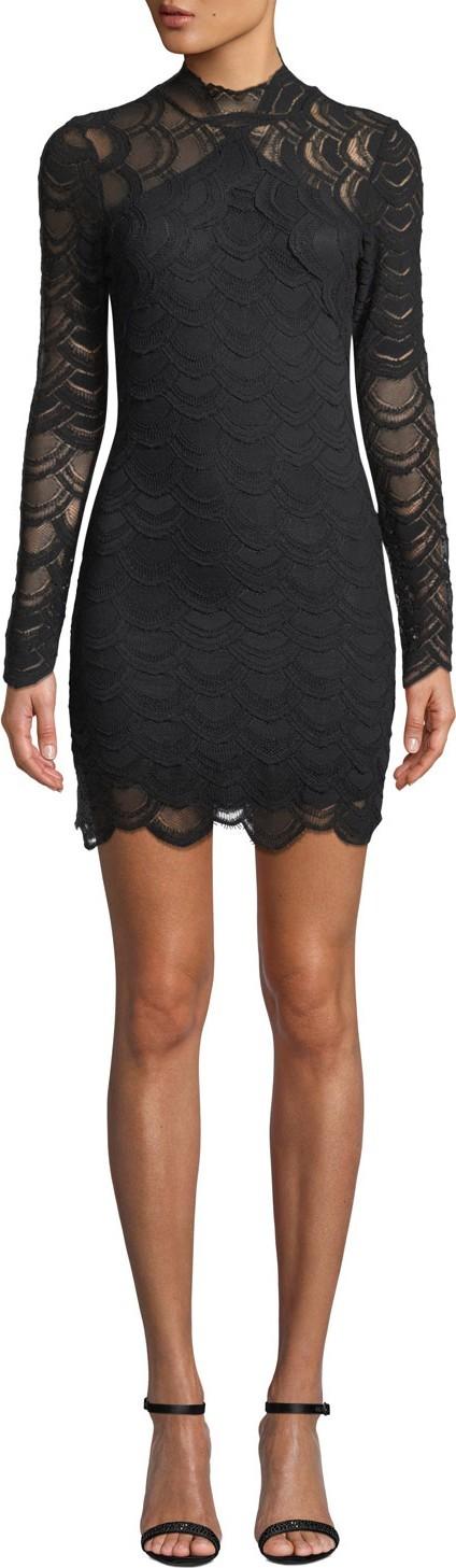 Nightcap Clothing Victorian Lace Long-Sleeve Mini Dress