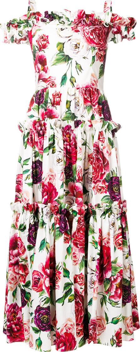 Dolce & Gabbana Off-the-shoulder floral dress