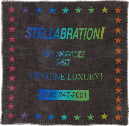 Stella McCartney Stellabration Wool & Silk Scarf