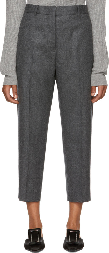 Jil Sander Grey Donald Cropped Wool Trousers