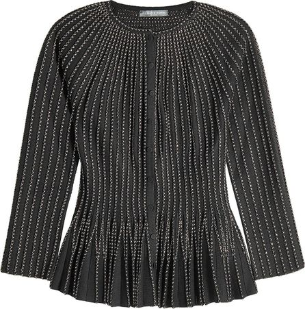 Alexander McQueen Embroidered Cardigan with Silk