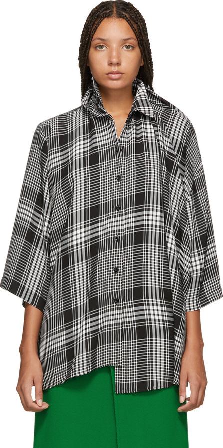 Balenciaga Black & White Check Double Shirt