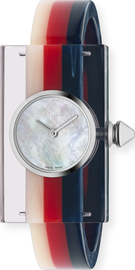 Gucci Tricolor Plexiglas Bangle Watch