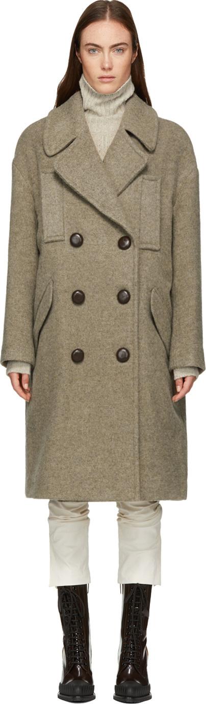 Isabel Marant Taupe Wool Etim Coat