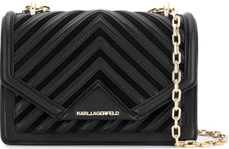 Karl Lagerfeld Logo embellished shoulder bag