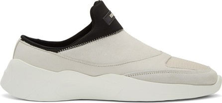 Essentials Beige & Black Laceless Backless Sneakers