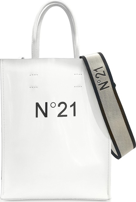 N°21 White Patent Eco-Leather Small Tote Bag