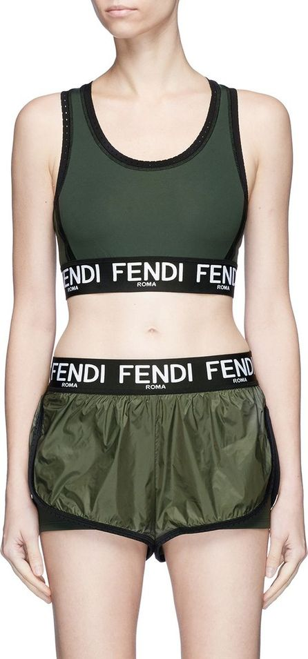 Fendi Logo jacquard sports bra