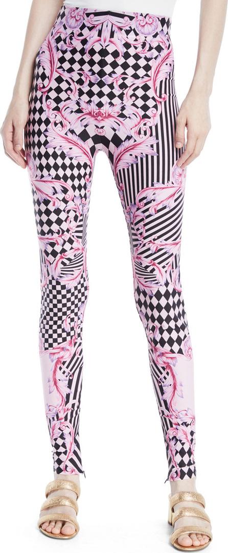 Versace Harlequin-Print Leggings