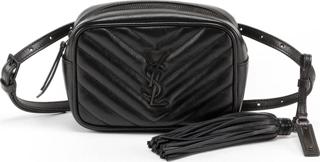 ff452c3e57 Saint Laurent Lou Monogram YSL Quilted Leather Belt Bag - Black Hardware