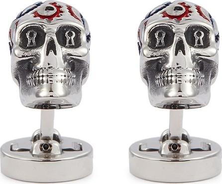 Tateossian x Grateful Dead Gear Skull cufflinks