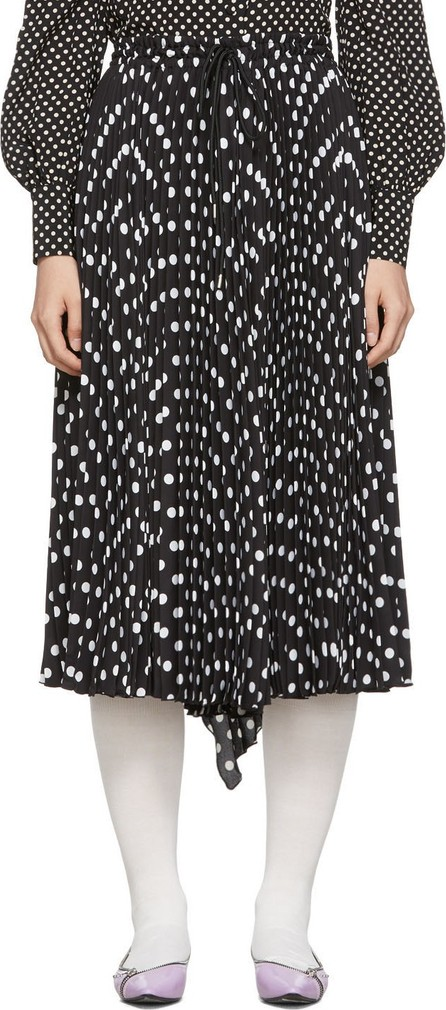 MARC JACOBS Black 'The Pleated' Skirt