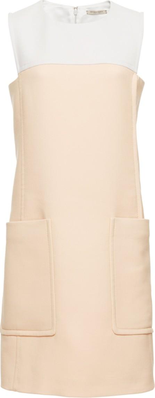 Bottega Veneta Two-Tone Wool-Blend Shift Dress