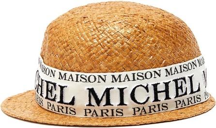 Maison Michel Rie' logo band raffia hat