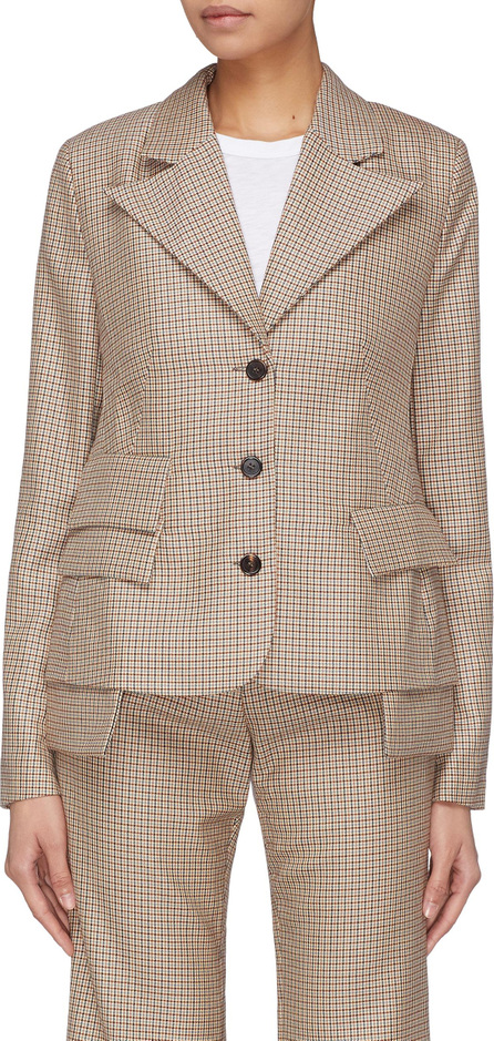 Aalto Wool houndstooth check blazer