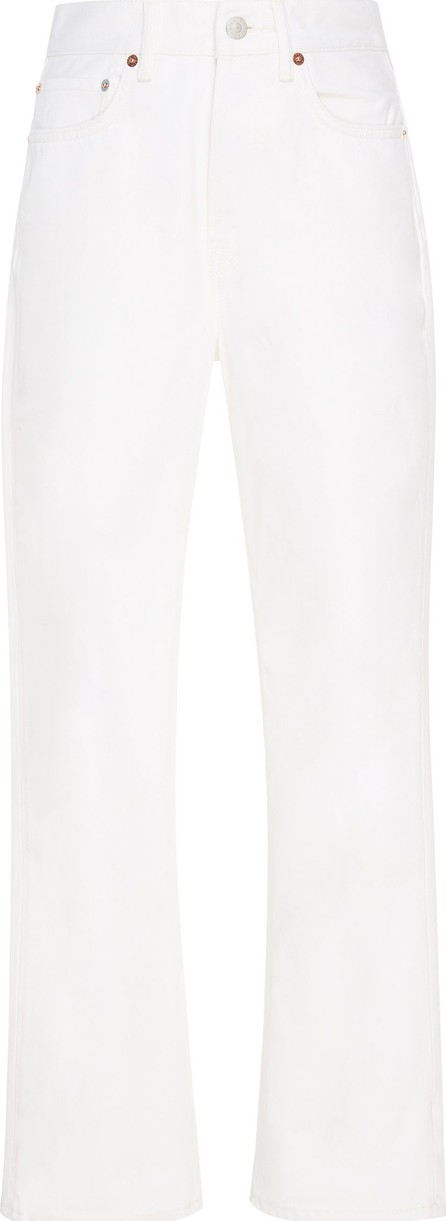 Acne Studios Mece High-Waisted Cropped Straight-Leg Jeans