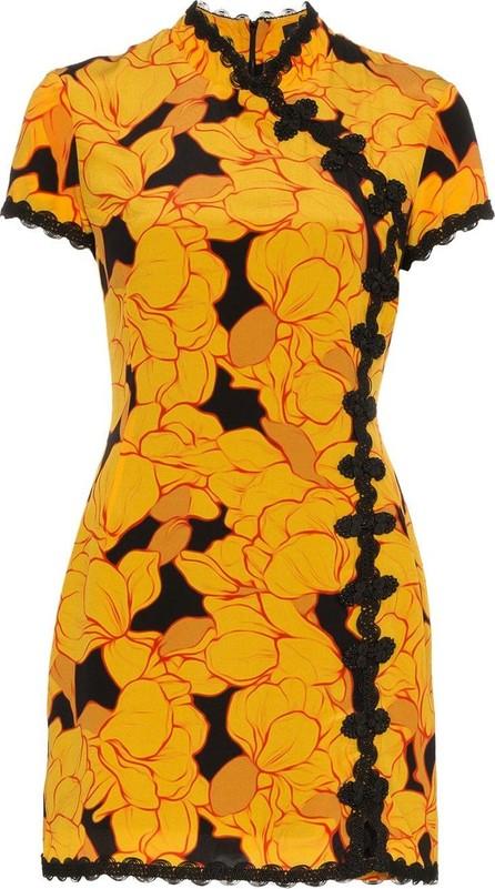 De La Vali Suki magnolia print mini dress