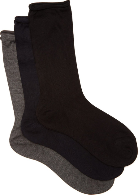 Raey Set of three roll-top silk socks