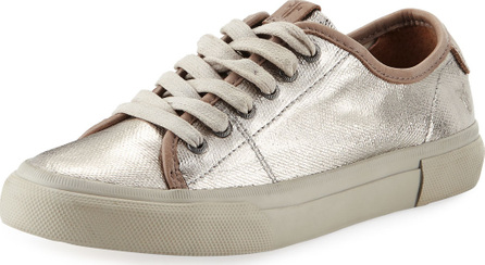 Frye Gia Coated Canvas Low-Top Sneakers