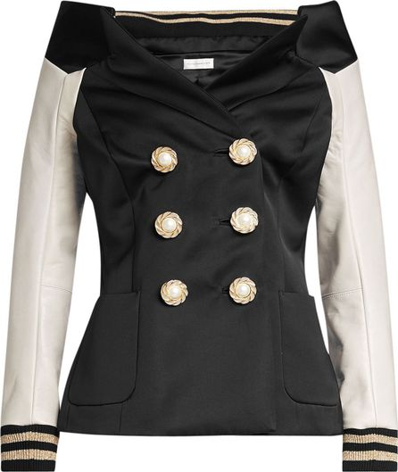 Faith Connexion Blazer with Leather Sleeves