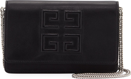 Givenchy Eblem Leather Wallet On Chain
