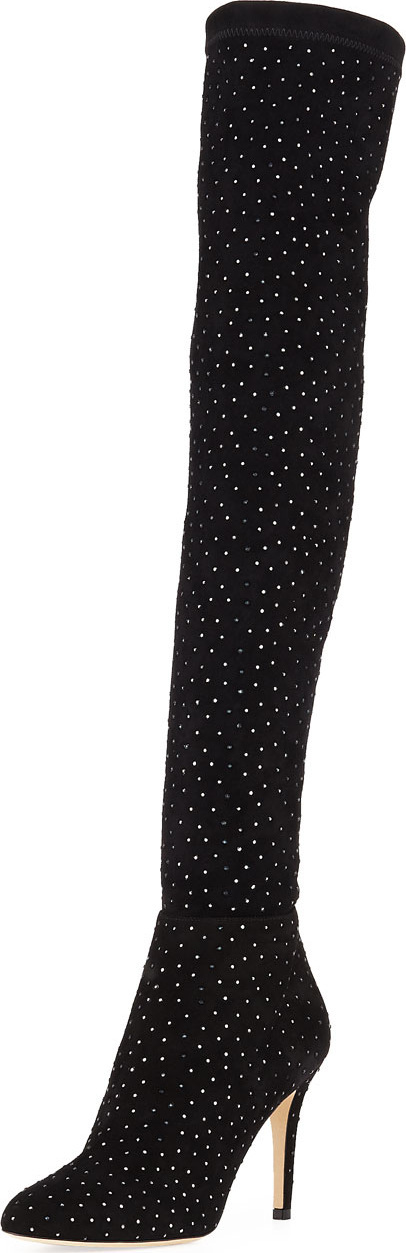 Jimmy Choo Toni Over-The-Knee Embellished Boots